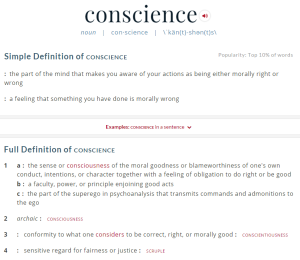 ce definition conscience