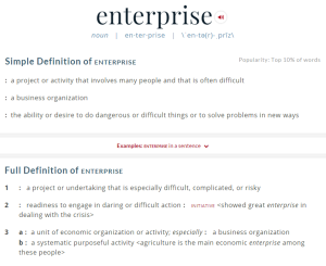 ce definition enterprise